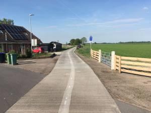 wijziging fietsparcours